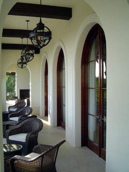 Michael Preston Design Santa Barbara covered terrace