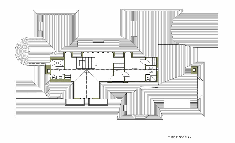 Michael Preston Design 1000 Islands Residence floorplan