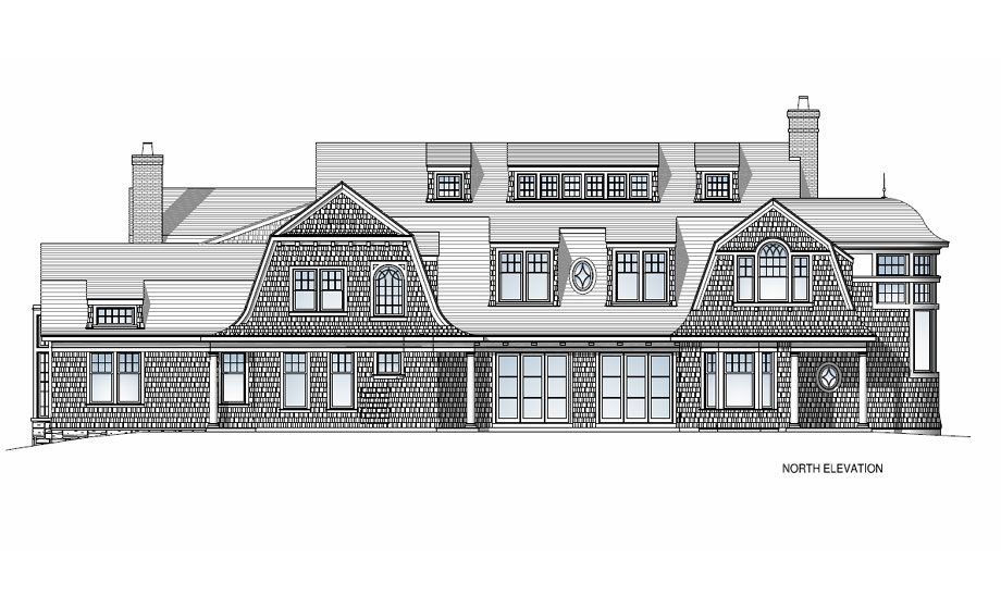 Michael Preston Design 1000 Islands Residence north elevation