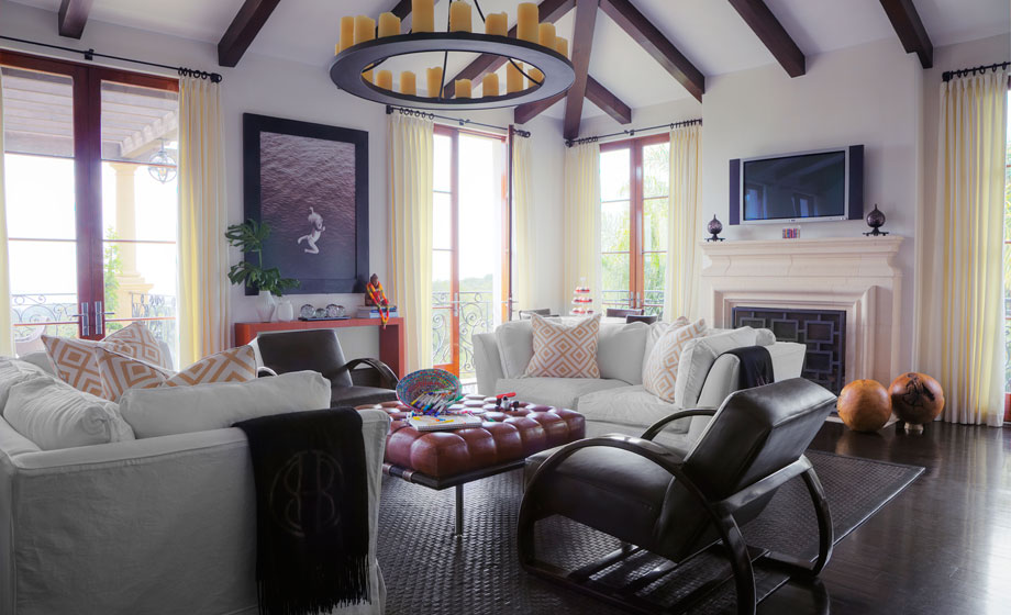 Michael Preston Design Family Room